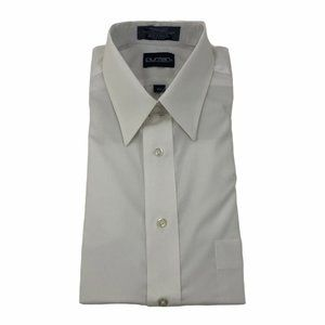 Vintage Puritan Men's Dress Shirt Size 15.5 Broadcloth Wrinkle Free Short Sleeve